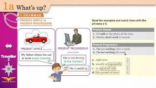 traveller 2 module 1a 3 grammar present simple vs present progressive workbook a b