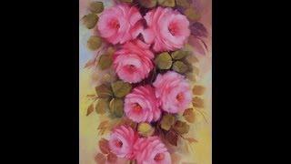 Pintando rosas com Lourdes Silva