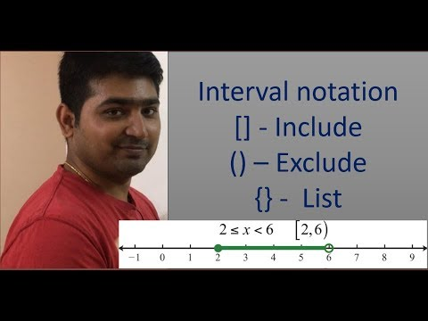 Best way to understand Interval and Interval notations(open interval)[closed interval]