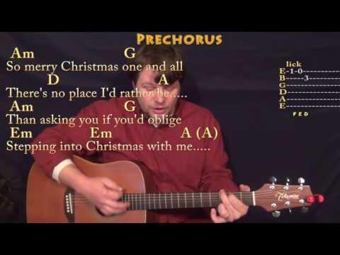 Step Into Christmas (Elton John) Guitar Cover Lesson with Chords/Lyrics