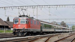 Züge in Rupperswil - SBB Re 4/4 II