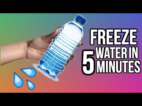 HOW TO FREEZE WATER IN 5 MINUTES | Easy DIY Science Hack