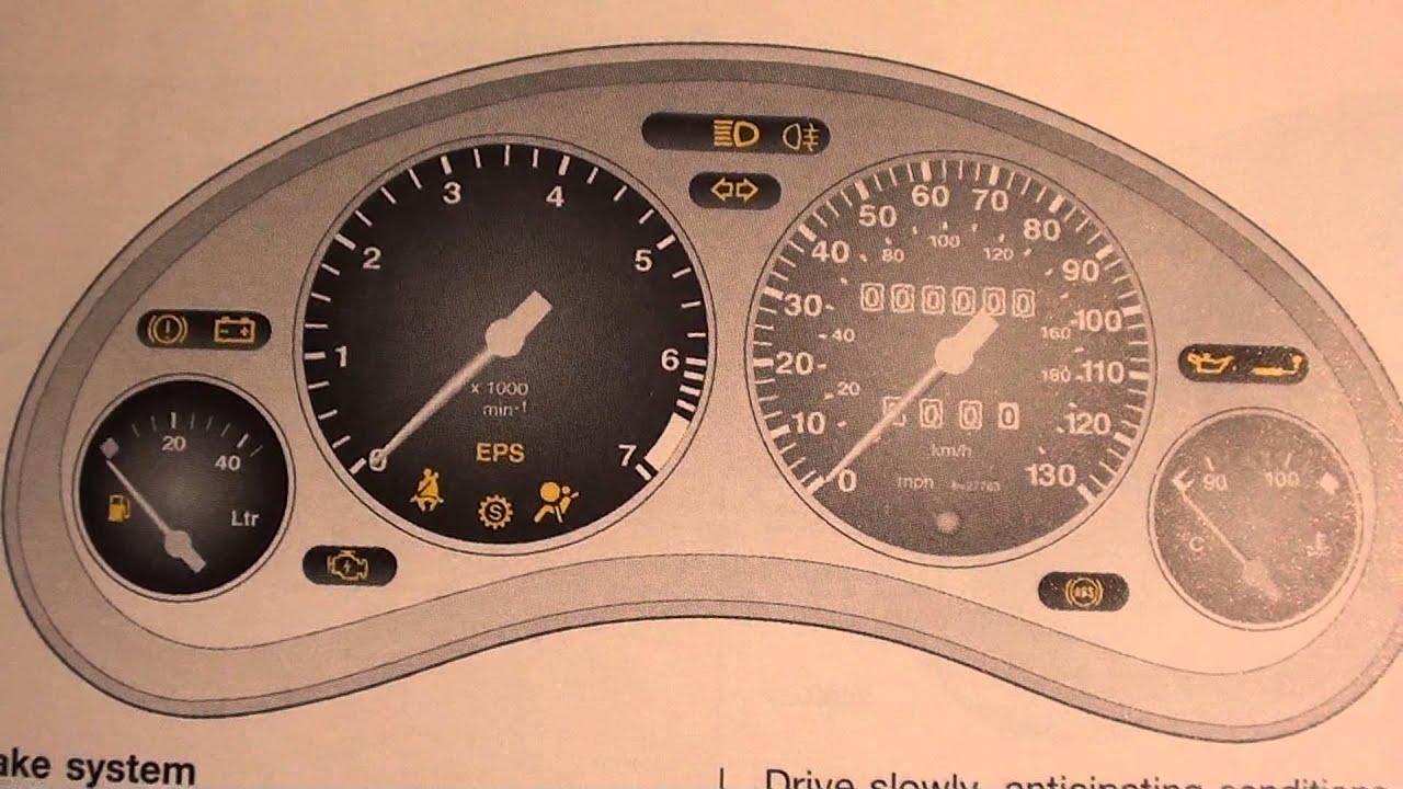 dashboard warning symbols manual