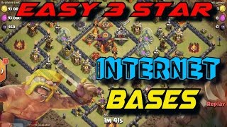 Easy 3 Star Internet Bases 2017 | Clash of Clans Internet Bases | Ring Base 3 Star