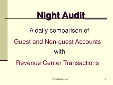 Hamg  Front Office Procedures The Night Audit  Youtube
