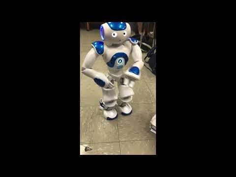 Robot dancing to Fortnite Disco Fever