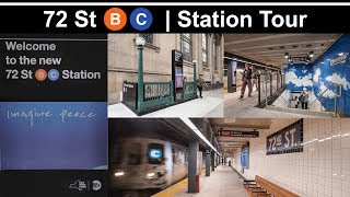 ⁴ᴷ Subway Tour | Re-built 72 St (B/C) on Re-Opening Day