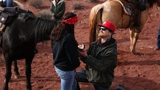An Amazing Proposal on Horseback