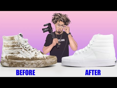 How To Clean DIRTY White Vans (SIMPLE)