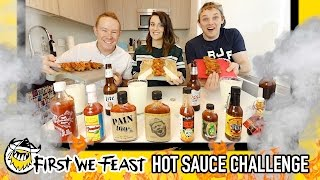 "The Official First We Feast ""Hot Ones"" Hot Sauce Challenge"