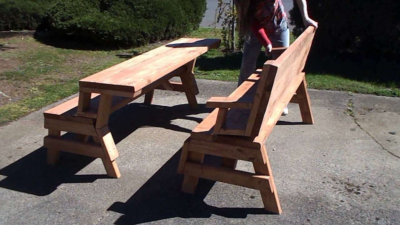 Bench Picnic Table Combo Youtube