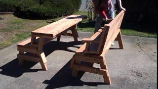 Bench / picnic table combo