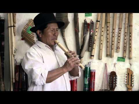 Flute Maker in Otavalo Ecuador