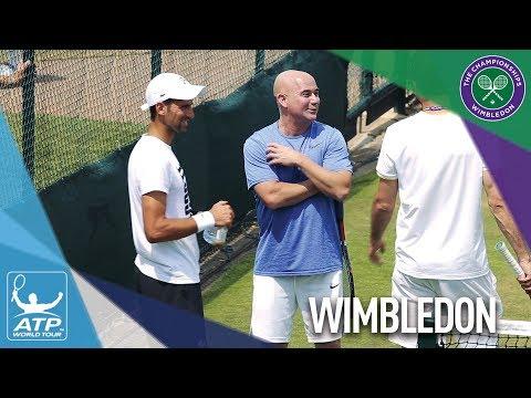 Djokovic Practises Ahead Of Wimbledon R4 2017