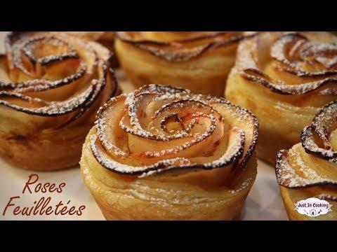 recette-des-roses-feuilletées-à-la-pomme