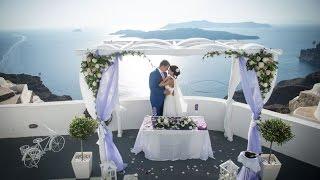 Свадьба на Санторини: бракосочетание Марины и Дениса(Ваш медовый месяц продлится до золотой свадьбы, если он начнётся на острове Санторини (Греция). Со всего..., 2016-11-22T17:05:29.000Z)
