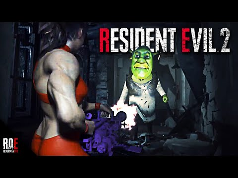 RESIDENT EVIL 2: REMAKE || STRONG CLAIRE VS. SHREK! (MOD)
