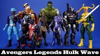 Marvel Legends Avengers Hulk Wave War Machine, Shuri, Loki, Rescue, Union Jack, Beta Ray Bill Review