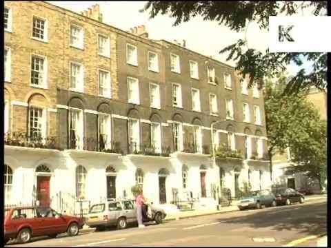 Mid 1990s Islington, Market, Houses, London UK Archive Footage