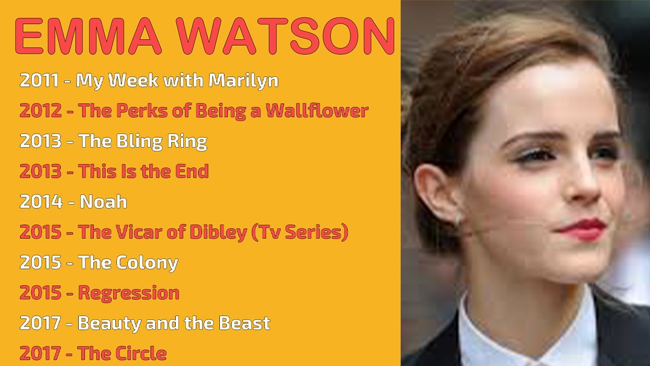 Emma Watson Movies List Youtube