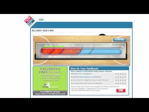 Dominos Pizza Order Tracker