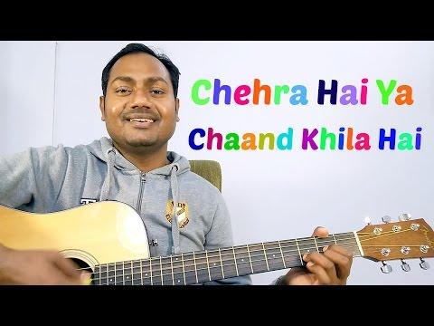 "CHEHRA HAI YA - KISHOR KUMAR ""COMPLETE EASY GUITAR LESSONS/CHORDS"""