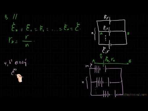 [Vật lí 11] Bài 14  Mắc các nguồn điện thành bộ   Lí thuyết và bài tập