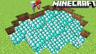 Wir finden einen Diamant See in Minecraft