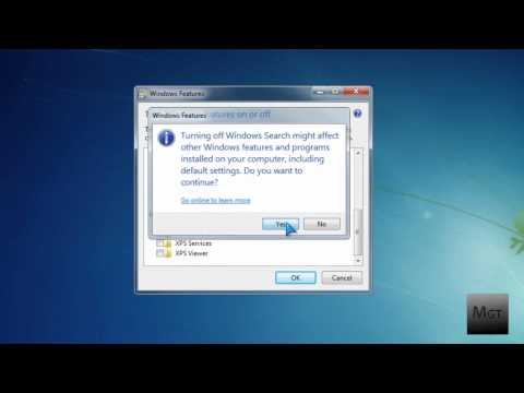 How To Disable Windows 7 Search