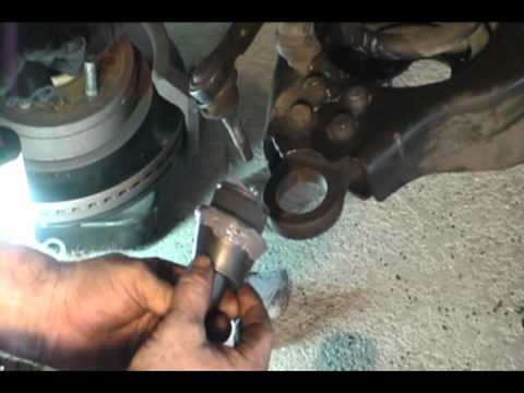 Dodge Ram 1500 Changing out Ball Joints Shocks and Tie Rods - YouTube
