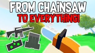 WHY CHAINSAW IS OP! 🔥 THEY LEFT THEIR BASE OPEN?! | Unturned Rags to Riches Ep. 1