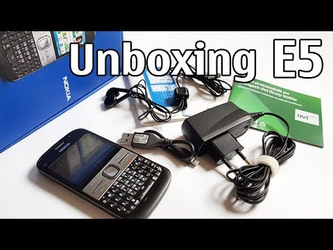 Nokia E5 Unboxing 4K with all original accessories Eseries RM-632 review E5-00
