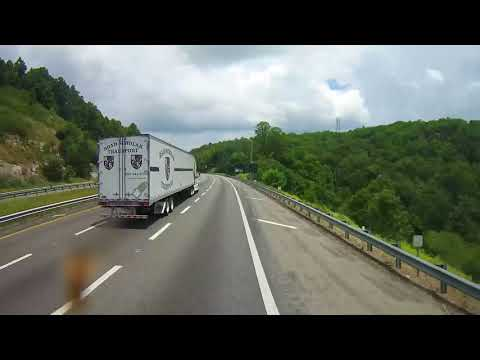 Driving on Interstate 77 through Entire State of Virginia in the mountains