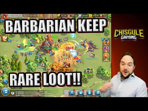 Barbarian Keep Camp Guide With Rare Loot Spawn And Drop Rise Of Kingdoms Youtube