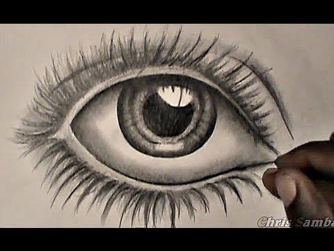Gallery For gt Cool Easy Eye Drawings