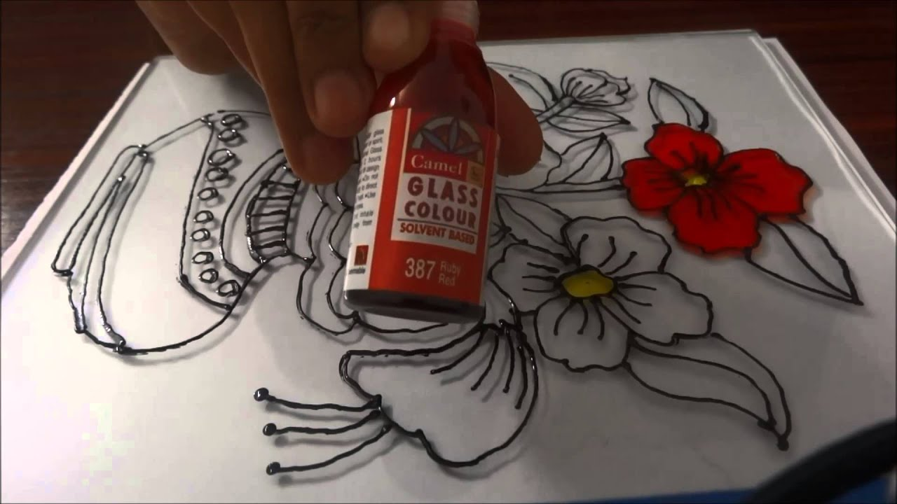 Glass painting step by step demonstration youtube for How do i paint glass