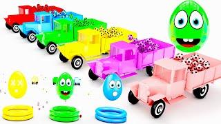 Learn Colors With 3D Surprise eggs, Lollipop For Kids! Children's Educational Video Animation!!