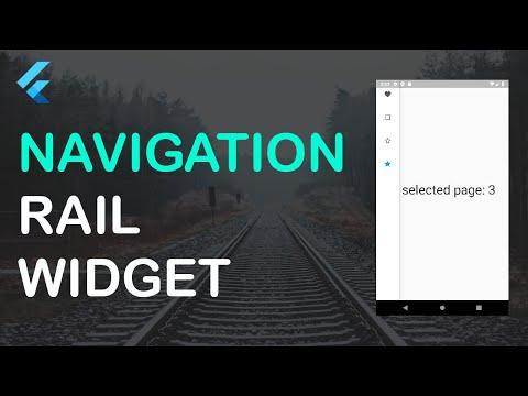 FLUTTER NAVIGATION RAIL WIDGET