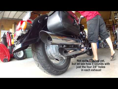How to Debaffle stock pipes exhaust on Suzuki Boulevard C50