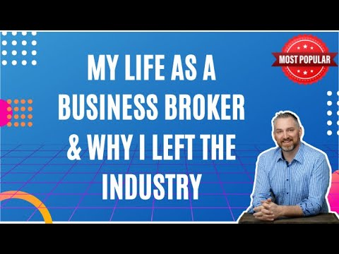 My life as a business broker & why I left the industry- David C Barnett