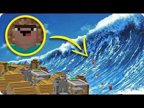 Download Youtube: NIKDO NEPŘEŽIJE 1000 BLOKŮ VELKÉ TSUNAMI V MINECRAFTU!!! - To nikdo nepřežije!