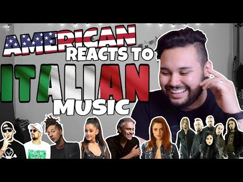 American REACTS // Italian Music