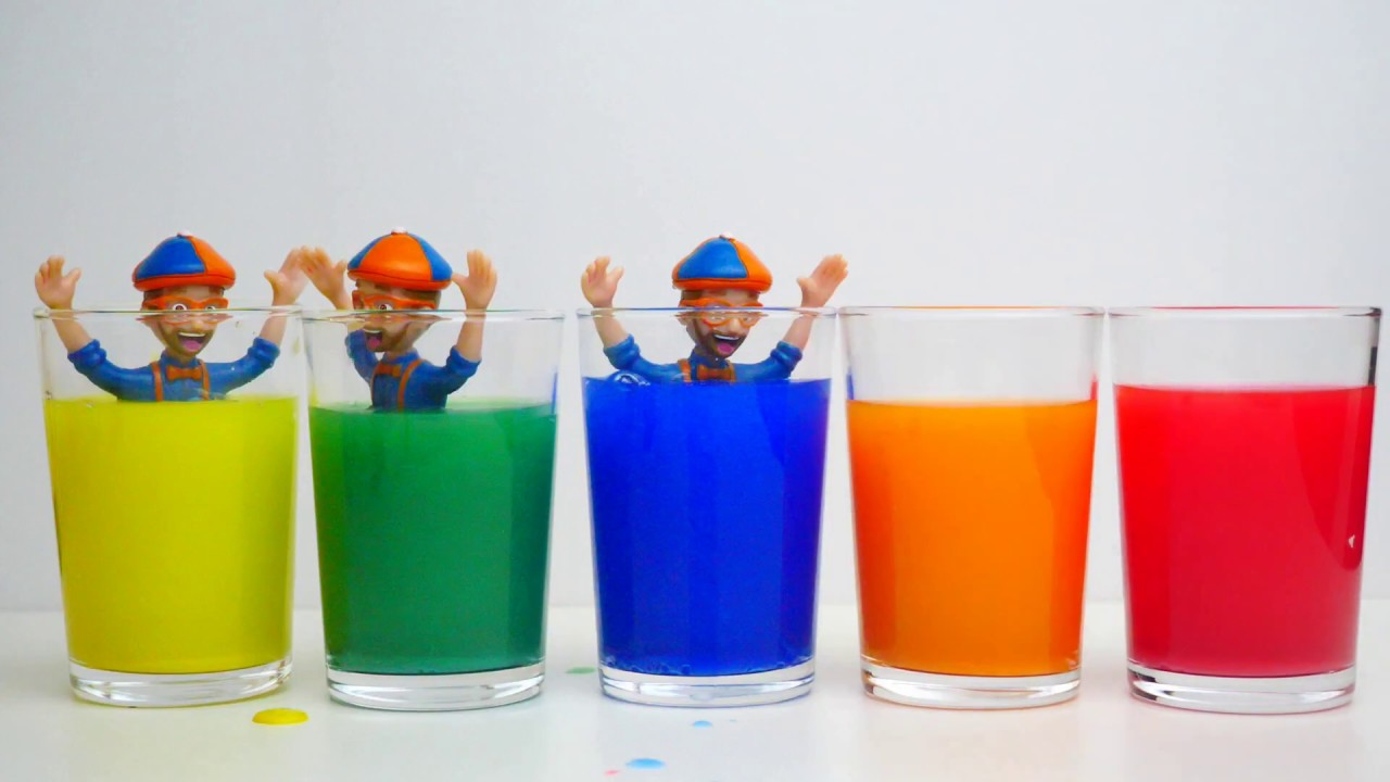 Learn Colors with Blippi Toys Colorful Glass
