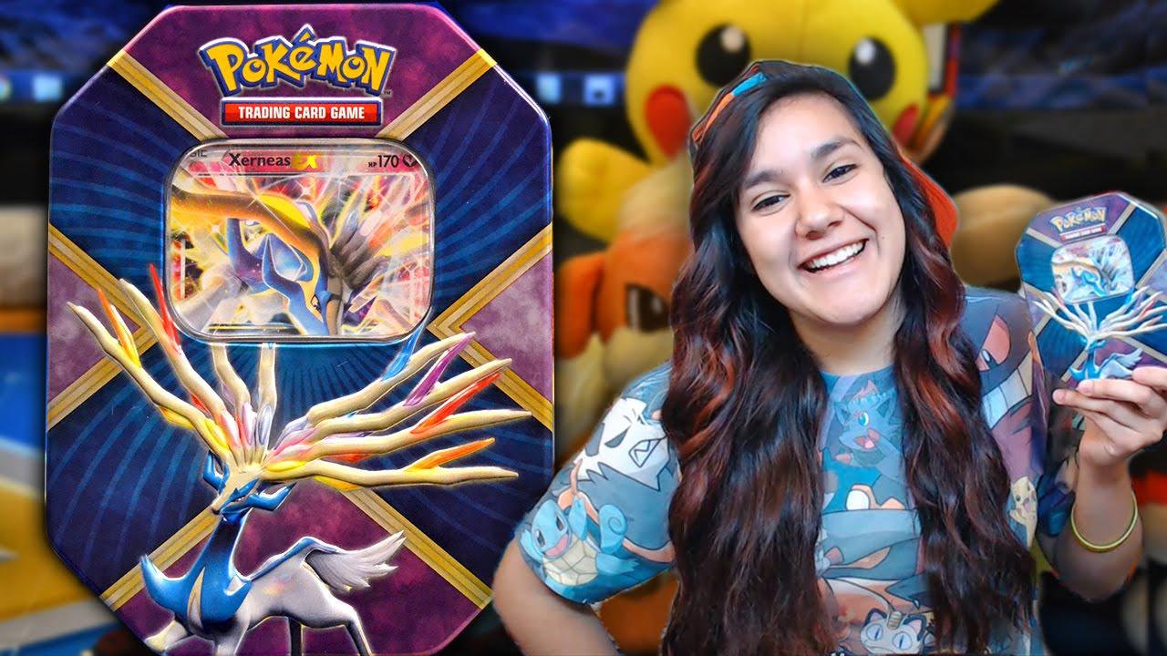 Opening a Pokemon Shiny Xerneas EX Tin! - YouTube