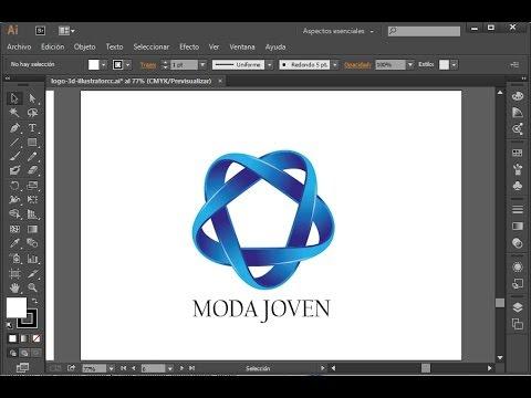 Curso de illustrator cc dise ar un logo 3d 1 3 youtube for Programa para disenar en 3d en espanol gratis