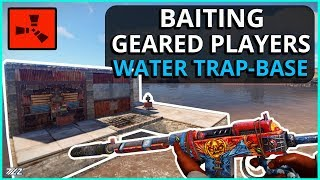 TRAPPING A FULL GEAR IN OUR WATER TRAP BASE! Rust Trap Base Survival Gameplay