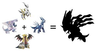Pokemon Fusion Sprite: Fan Requests #37: Arceus + Palkia + Dialga + Giratina