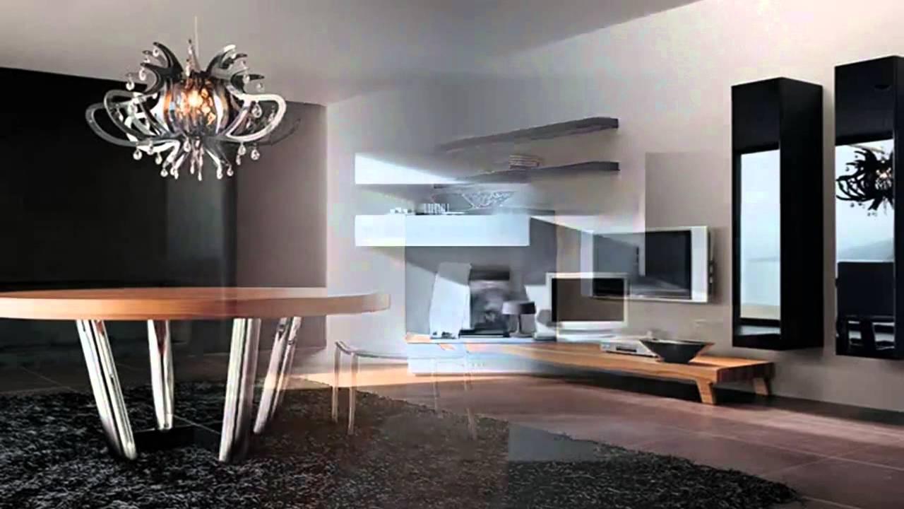 Indoor Design Ideas Minimalist Living Room With Modern Wall Units ...