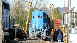 Hulcher Services Rescues Train Locomotive | Jason Asselin