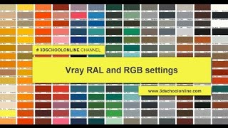 Vray RAL and RGB settings